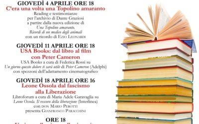 """La storia siamo noi: l'aprile dei """"Giovedì letterari in biblioteca"""""""