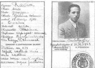 Carta di identità partigiana, 1943