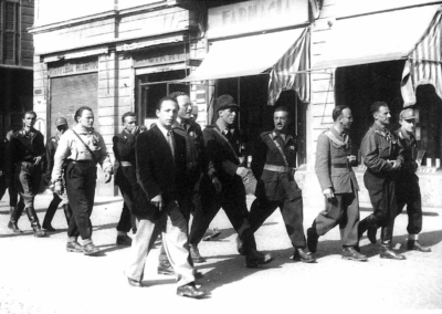 Comandanti partigiani a Novara, 26 aprile 1945