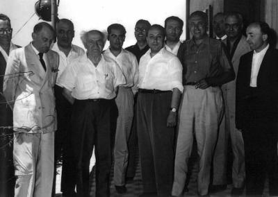 Delegazione italiana in Israele con presidente Ben Gurion, 1954