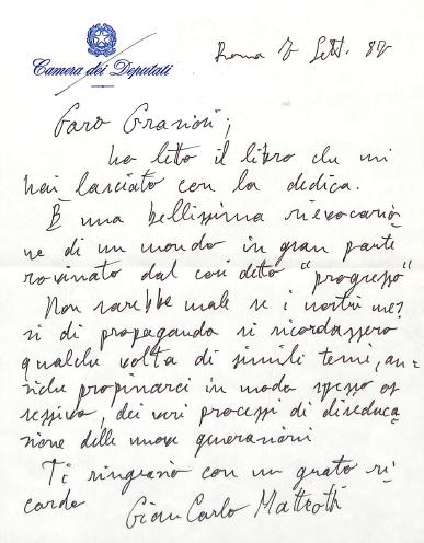 Gian Carlo Matteotti (7 settembre 1987)