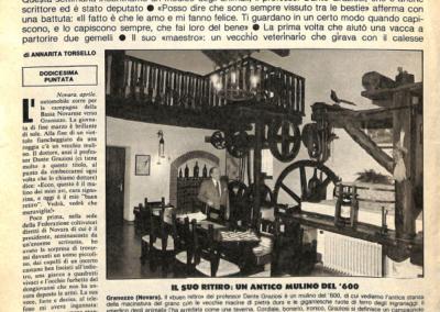 Intervista a DG_La Domenica del Corriere (14 aprile 1982)