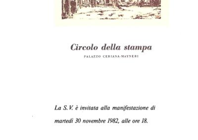 Manifestazione Circolo della Stampa, Torino 1982