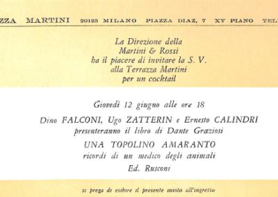 Presentazione Una Topolino amaranto alla Terrazza Martini, Milano s.d
