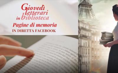 Pagine di memoria – Giovedì letterari in biblioteca – eventi di gennaio 2021